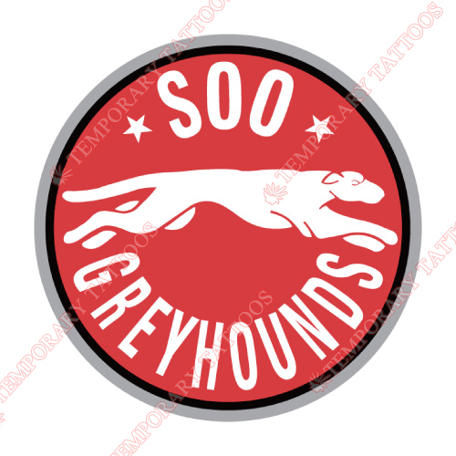 Sault Ste Marie Greyhounds Customize Temporary Tattoos Stickers NO.7392